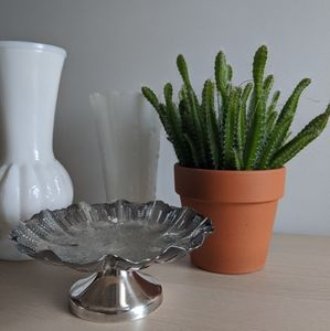Silver-look Catchall Dish